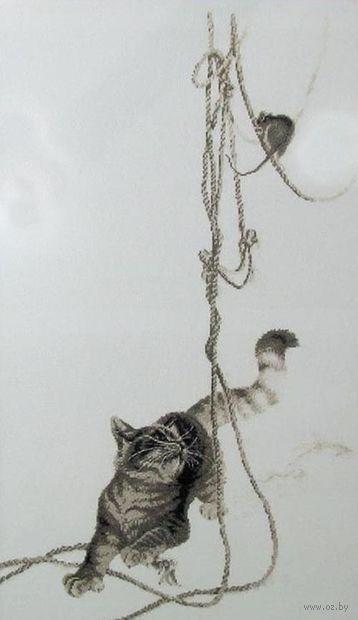 "Вышивка крестом ""Кошки-мышки"" (330х570 мм) — фото, картинка"