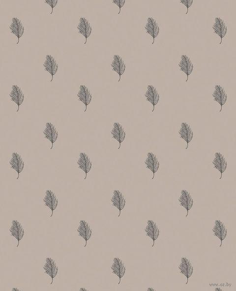 """Простыня хлопковая на резинке """"Перья"""" (90х200 см) — фото, картинка"""