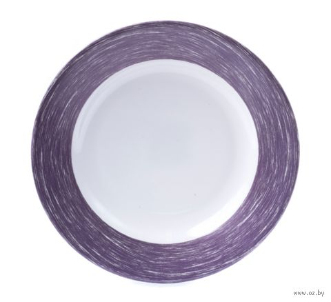 "Тарелка стеклокерамическая ""Brush Purple"" (225 мм) — фото, картинка"