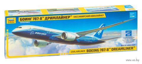 "Пассажирский авиалайнер Боинг 787-8 ""Дримлайнер"" (масштаб: 1/144)"