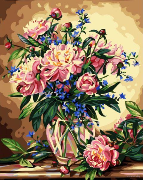 """Картина по номерам """"Букет лесных цветов"""" (500х400 мм)"""
