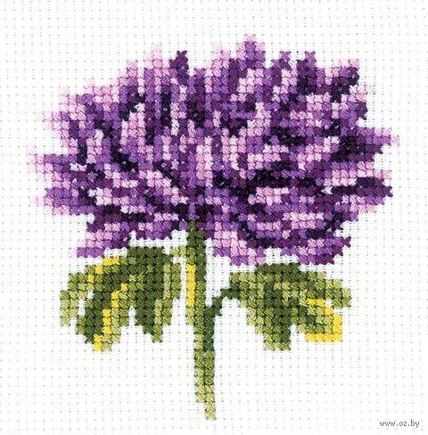 "Вышивка крестом ""Хризантема"" (100x100 мм) — фото, картинка"