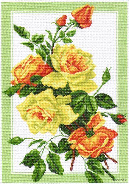 "Канва с нанесенным рисунком ""Букет роз"" (арт. 1224)"