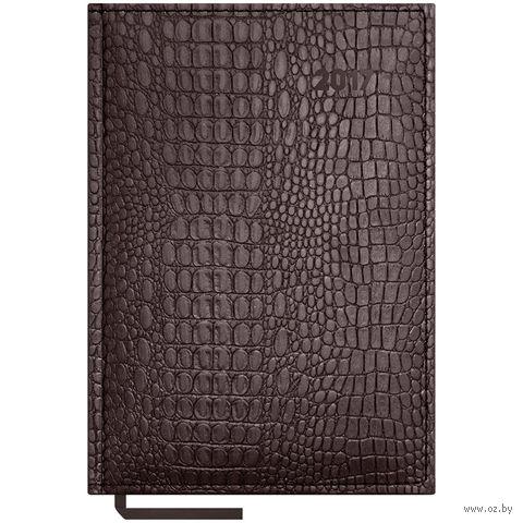 """Ежедневник датированный """"Croco"""", 2017 (А5; 176 листов; коричневый)"""
