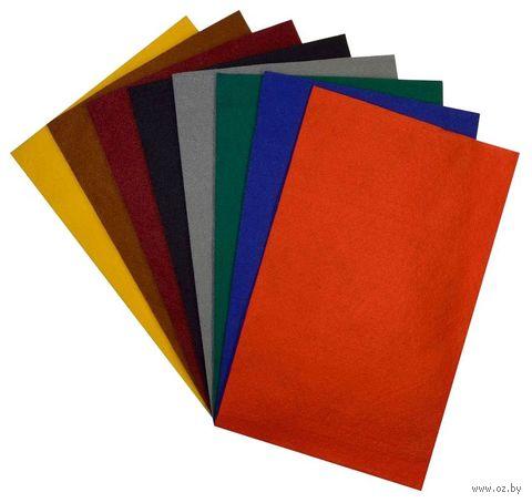 """Набор фетра """"Базовые цвета"""" (8 листов; 8 цветов) — фото, картинка"""