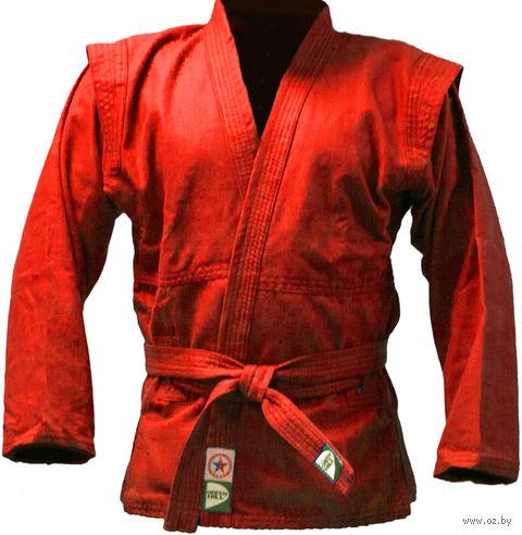 Куртка для самбо JS-302 (р. 5/180; красная) — фото, картинка
