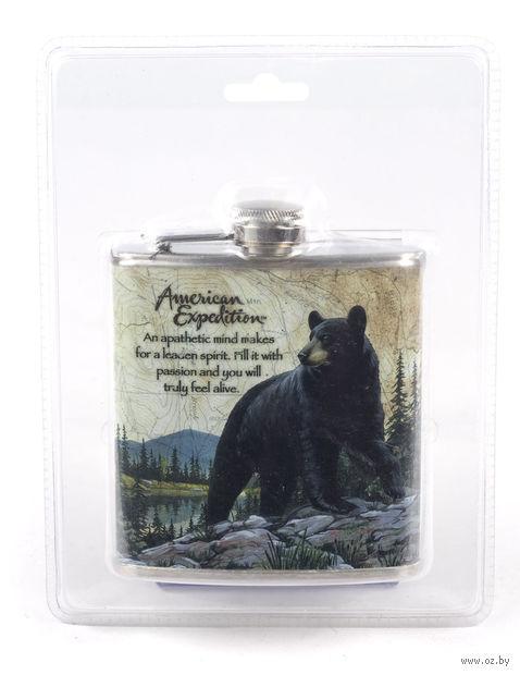 """Фляжка металлическая """"Медведь"""" (170 мл, арт. TF-6Y51)"""