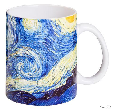 """Кружка """"Ван Гог. Звездная ночь"""" (белая) — фото, картинка"""