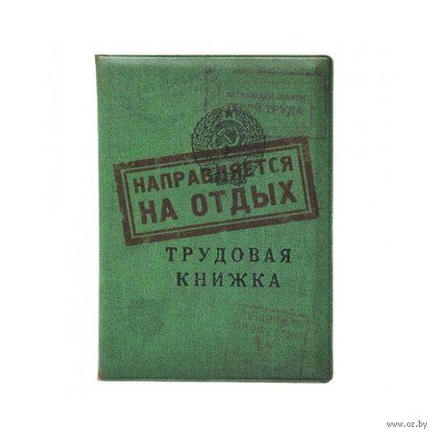 """Обложка для загранпаспорта """"Трудовая книжка/На отдых"""" (пластик) — фото, картинка"""