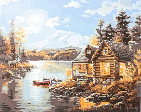 "Картина по номерам ""Хижина рыбака"" (400х500 мм)"