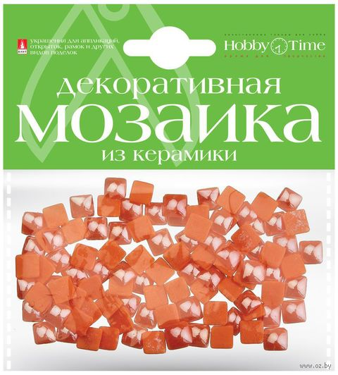 Мозаика декоративная из керамики №22 (8х8 мм; 100 шт.; оранжевый) — фото, картинка