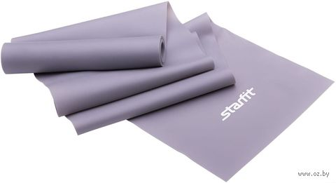 Эспандер ленточный для йоги ES-201 (1200х150х0,55 мм; серый) — фото, картинка