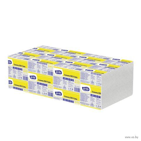 """Бумажные полотенца """"Economy 250V"""" (250 листов; белый) — фото, картинка"""