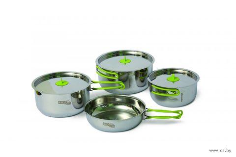 """Набор стальной посуды """"Trio steel S"""" — фото, картинка"""