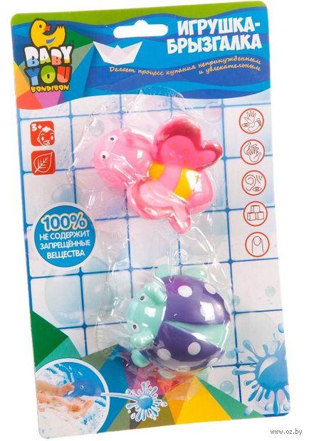 """Набор игрушек для купания """"Бабочка и божья коровка"""" (2 шт.) — фото, картинка"""