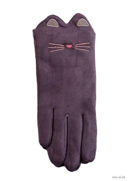 """Перчатки """"Котики"""" (серые) — фото, картинка"""