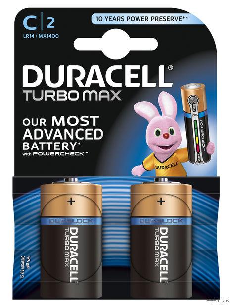 Батарейка алкалиновая Duracell TurboMax С 1.5V LR14 (2 шт)