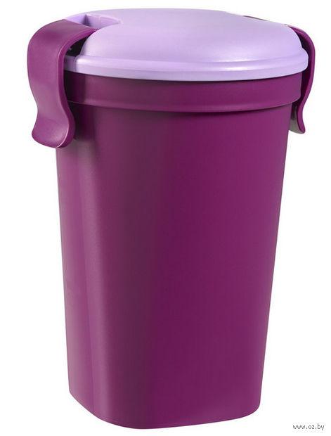 """Контейнер для еды """"Lunch&Go"""" (0,6 л; фиолетовый)"""