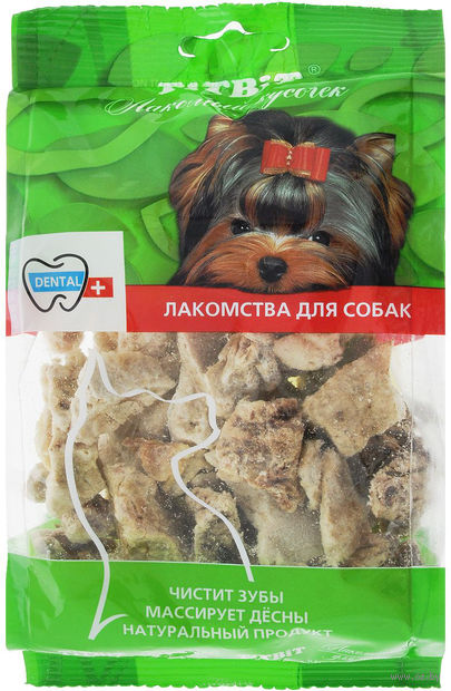 """Лакомство для собак """"Легкое говяжье"""" (21 г) — фото, картинка"""