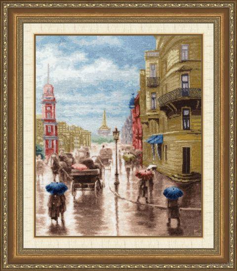 "Вышивка крестом ""Невский проспект"" (375х310 мм) — фото, картинка"