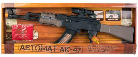 """Автомат """"АК-47"""" (со световыми и звуковыми эффектами; арт. 0076) — фото, картинка"""