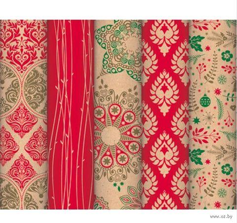 """Бумага упаковочная """"Authentic Christmas"""" (70х200 см) — фото, картинка"""