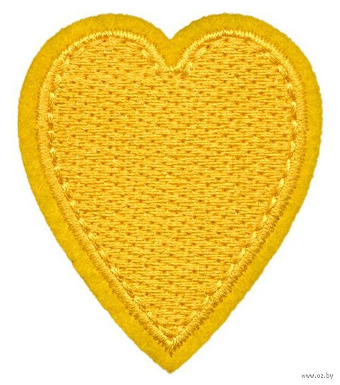 """Термоаппликация """"Жёлтое сердце"""" — фото, картинка"""