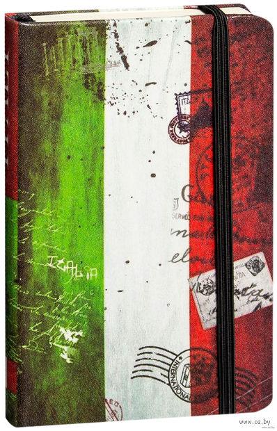 """Записная книжка в линейку """"Флаги мира. Италия"""" (А6)"""