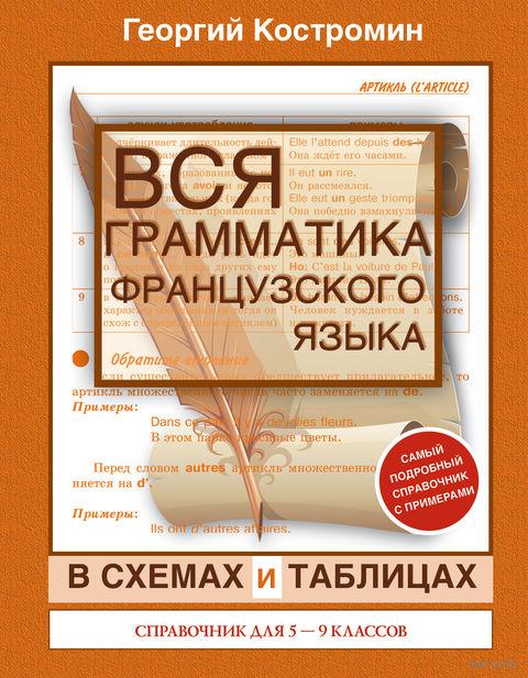 Вся грамматика французского языка в схемах и таблицах. 5-9 классы. Георгий Костромин