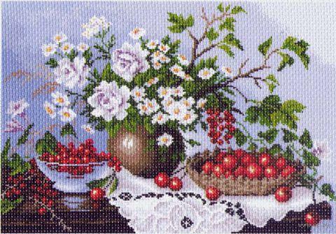 """Канва с нанесенным рисунком """"Натюрморт с ягодами"""" — фото, картинка"""
