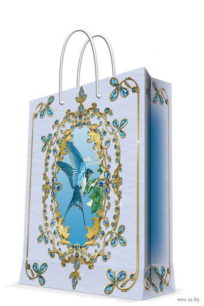 "Пакет бумажный подарочный ""Ласточка"" (17,8х22,9х9,8 см; арт. 43505) — фото, картинка"