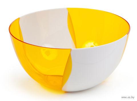 """Салатник двухцветный """"Dolce"""" (0,7 л; оранжевый) — фото, картинка"""