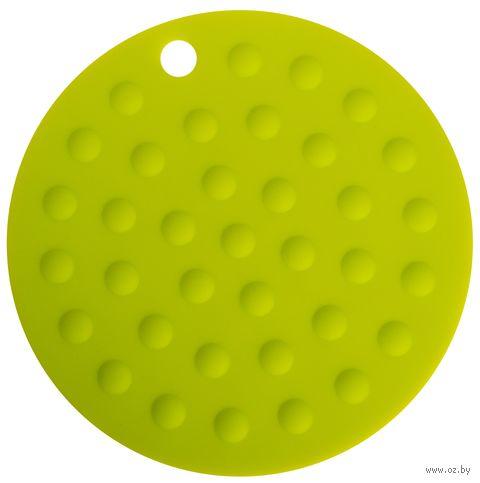 Подставка под горячее силиконовая (175x2 мм; зеленый) — фото, картинка