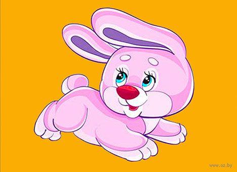 """Алмазная вышивка-мозаика """"Розовый кролик"""" (150х120 мм) — фото, картинка"""