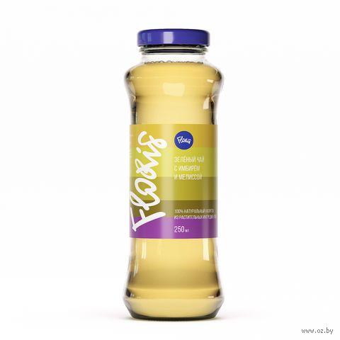 """Чай холодный """"Floris. Зеленый чай с имбирем и мелиссой"""" (250 мл) — фото, картинка"""