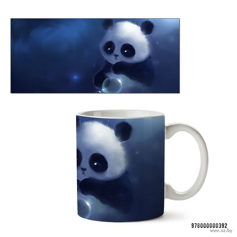 """Кружка """"Панда"""" (белая; арт. 392) — фото, картинка"""