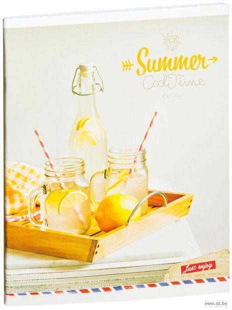 """Тетрадь в клетку 48 листов """"Стиль. Summer. Cool time"""""""