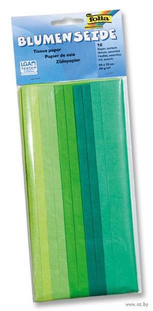 Бумага папиросная (зеленый микс; 500х700 мм; 10 листов)