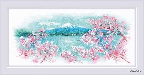 "Вышивка крестом ""Сакура. Фудзи"" (550х250 мм) — фото, картинка"