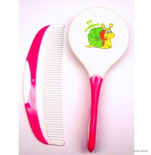 Набор для ухода за волосами детский (расческа, щетка; арт. 011) — фото, картинка
