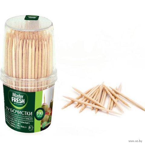 Набор зубочисток деревянных (190 шт.) — фото, картинка