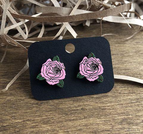 """Серьги """"Розовые розы"""" (арт. 016) — фото, картинка"""