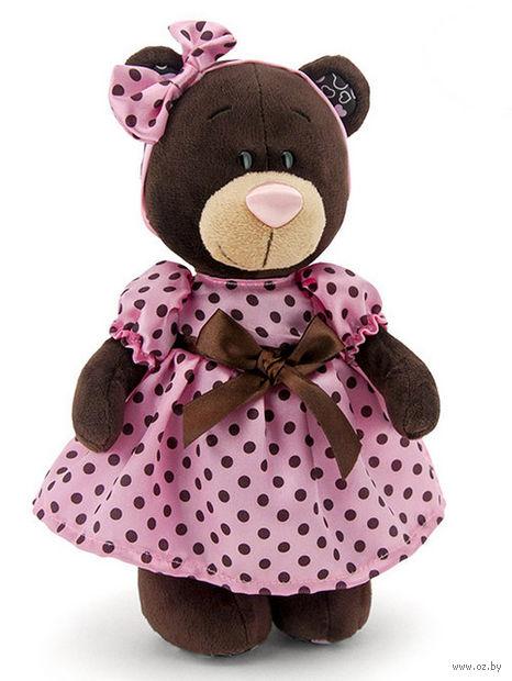 """Мягкая игрушка """"Медведь Milk в летнем платье"""" (25 см)"""