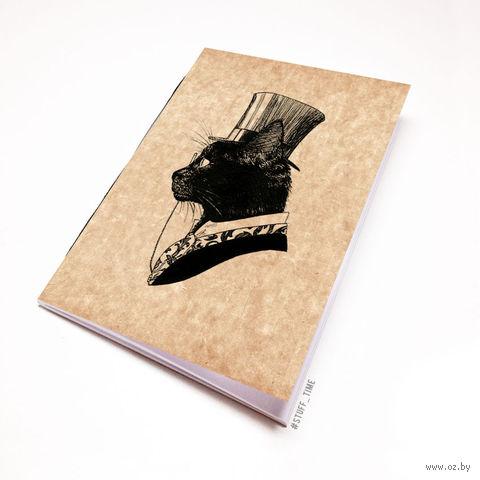 """Блокнот крафт """"Кот джентльмен"""" (А5; арт. 795) — фото, картинка"""