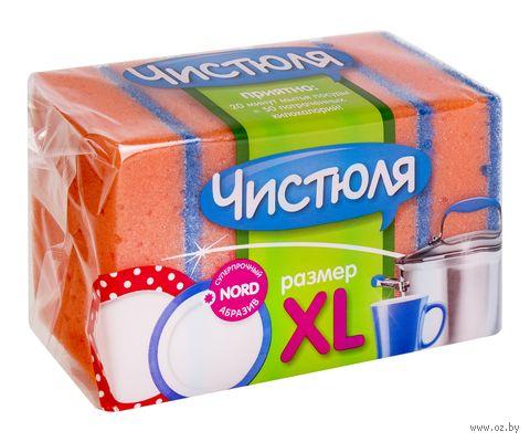 """Губка для мытья посуды """"Чистюля. XL"""" (5 шт.; 100х70х30 мм) — фото, картинка"""