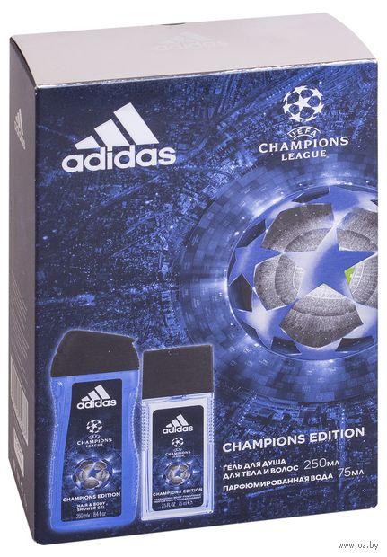 """Подарочный набор """"UEFA Champions League"""" (парфюмерная вода, гель для душа) — фото, картинка"""