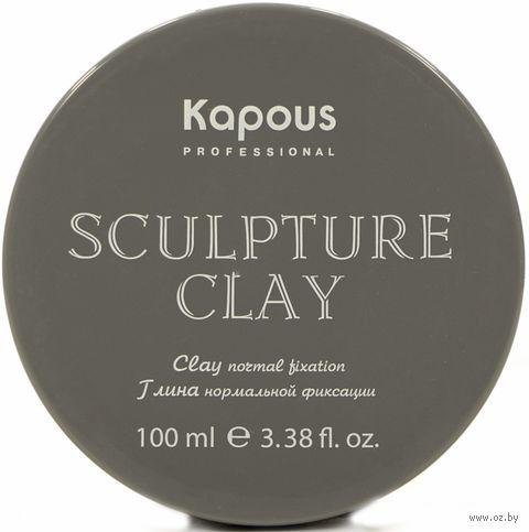 """Глина для укладки волос """"Sculpture Clay"""" нормальной фиксации (100 мл) — фото, картинка"""