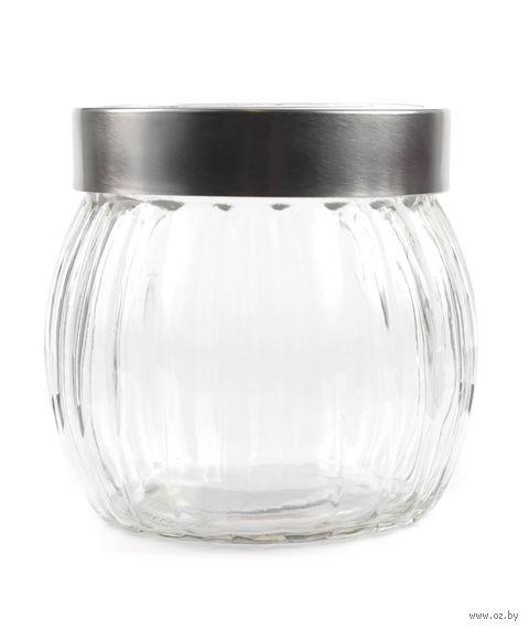 Банка для сыпучих продуктов стеклянная (950 мл; 12,8х12 см)
