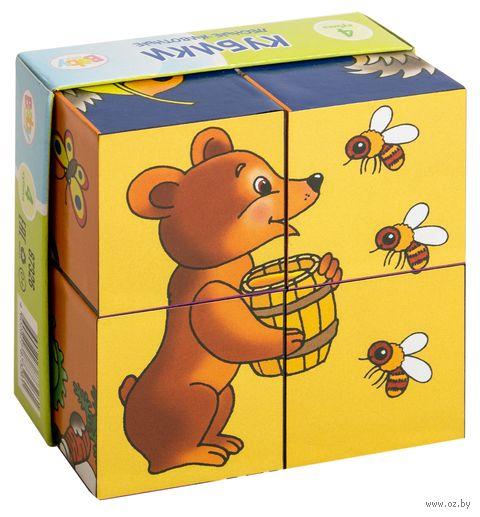 """Кубики """"Лесные животные"""" (4 шт)"""