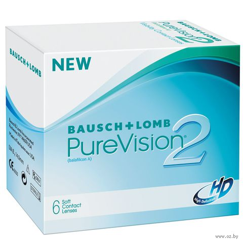 """Контактные линзы """"Pure Vision 2 HD"""" (1 линза; +4,0 дптр) — фото, картинка"""